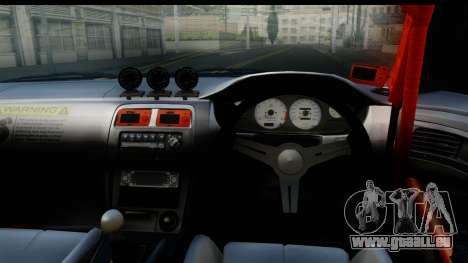 Nissan Silvia S14 Kouki Skin pour GTA San Andreas sur la vue arrière gauche