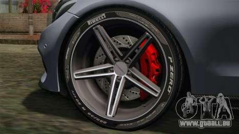 Mercedes-Benz C250 AMG Edition 2014 SA Plate für GTA San Andreas zurück linke Ansicht