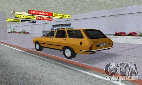 Renault 12 SW Taxi pour GTA San Andreas laissé vue