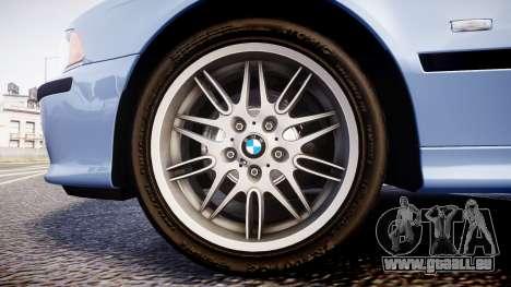BMW M5 E39 stock für GTA 4 Rückansicht