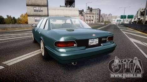 GTA V Vapid Stanier new wheels für GTA 4 hinten links Ansicht