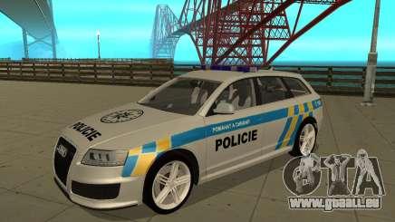 Audi RS6 Combi Police Czech Republic pour GTA San Andreas