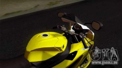 Suzuki GSX-R 2015 Yellow & White für GTA San Andreas rechten Ansicht
