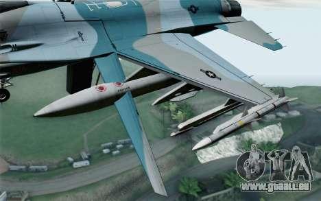 F-16C Fighting Falcon Aggressor BlueGrey pour GTA San Andreas vue de droite