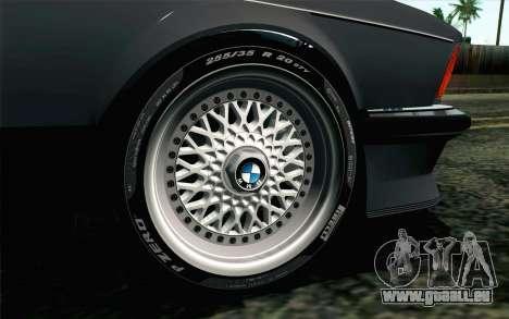 BMW M635CSI E24 1986 V1.0 EU Plate pour GTA San Andreas sur la vue arrière gauche