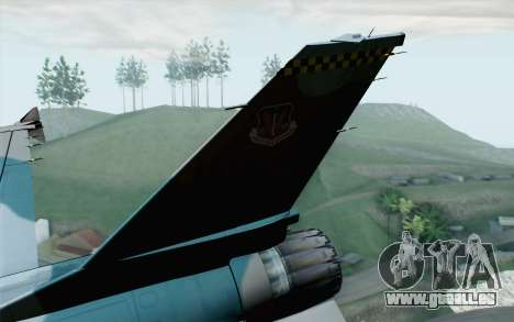 F-16C Fighting Falcon Aggressor BlueGrey für GTA San Andreas zurück linke Ansicht