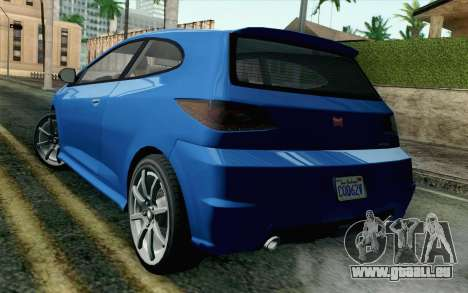 GTA V Dinka Blista SA Mobile pour GTA San Andreas laissé vue