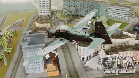 Embraer A-29B Super Tucano FAB pour GTA San Andreas laissé vue