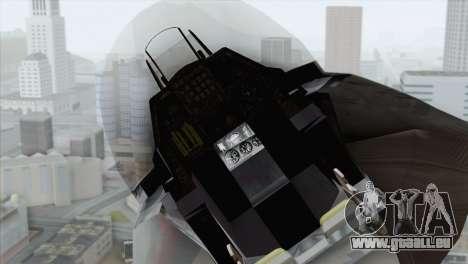 F-16 Scarface Squadron für GTA San Andreas Rückansicht