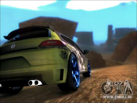 Volkswagen Scirocco Tunable pour GTA San Andreas sur la vue arrière gauche