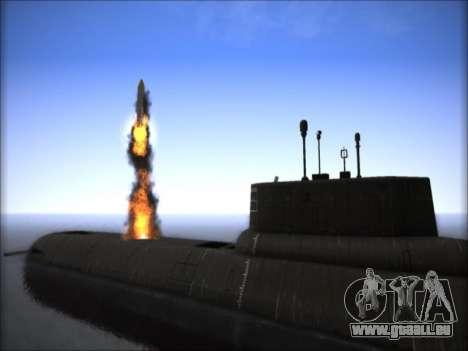NPS-Projekt 941 Akula für GTA San Andreas dritten Screenshot