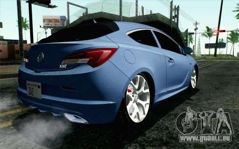 Vauxhall Astra VXR 2012 pour GTA San Andreas laissé vue