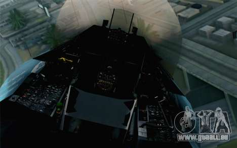 F-16C Fighting Falcon NSAWC Blue für GTA San Andreas Rückansicht