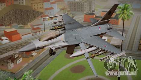 F-16 Fighting Falcon RNLAF Solo Display J-142 pour GTA San Andreas