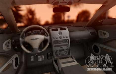 Aston Martin V12 Vanquish 2001 v1.01 pour GTA San Andreas vue intérieure