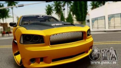 Dodge Charger SRT8 2006 Tuning pour GTA San Andreas sur la vue arrière gauche