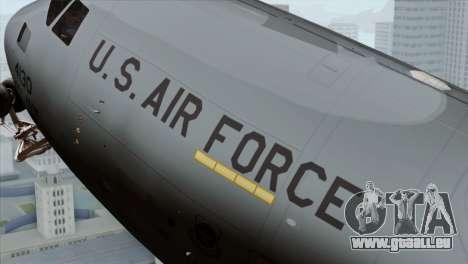 C-17A Globemaster III USAF McGuire pour GTA San Andreas vue de droite