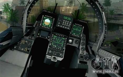 F-2A Viper 60th Anniversary of JASDF für GTA San Andreas Rückansicht