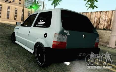 Fiat Uno Fire pour GTA San Andreas laissé vue