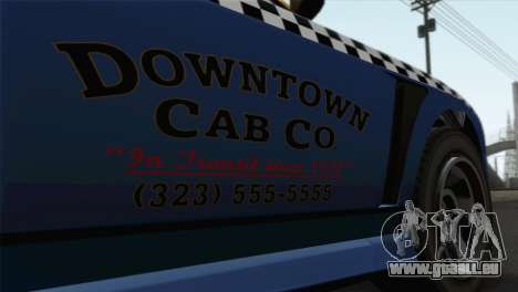 GTA 5 Bravado Buffalo S Downtown Cab Co. für GTA San Andreas Rückansicht