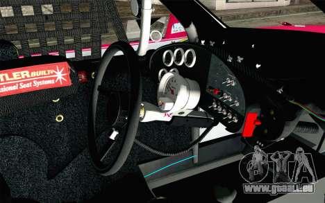 NASCAR Toyota Camry 2012 Plate Track pour GTA San Andreas vue de droite