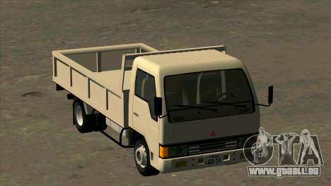 Mitsubishi Fuso Canter 1989 Flat Body pour GTA San Andreas vue arrière