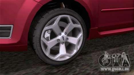 Ford Focus ST Tunable pour GTA San Andreas sur la vue arrière gauche