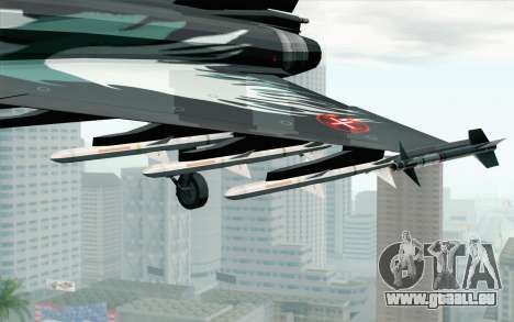 EuroFighter Typhoon 2000 Black Hawk für GTA San Andreas rechten Ansicht