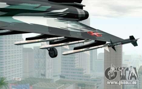 EuroFighter Typhoon 2000 Black Hawk pour GTA San Andreas vue de droite