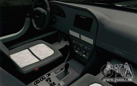 GTA 5 Karin Kuruma v2 SA Mobile pour GTA San Andreas vue arrière