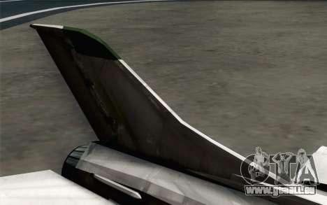 MIG-21UM Vietnam Air Force pour GTA San Andreas sur la vue arrière gauche