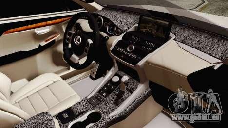 Lexus NX 200T für GTA San Andreas rechten Ansicht