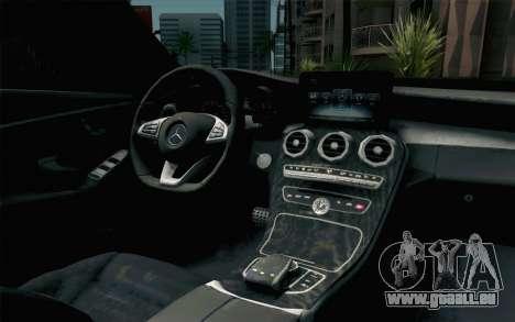 Mercedes-Benz C250 AMG Brabus Biturbo Edition für GTA San Andreas Rückansicht
