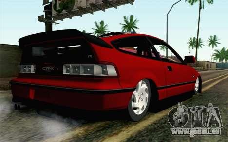 Honda CRX pour GTA San Andreas laissé vue