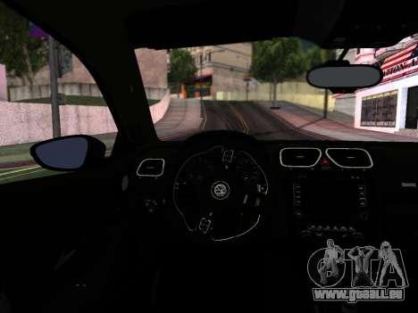 Volkswagen Scirocco Tunable für GTA San Andreas Innen