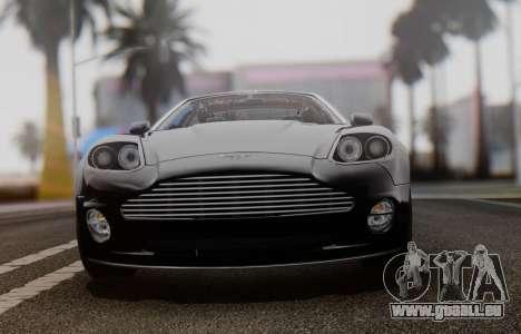 Aston Martin V12 Vanquish 2001 v1.01 pour GTA San Andreas vue arrière