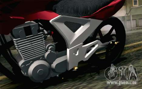 Honda Twister 250 v2 für GTA San Andreas Rückansicht