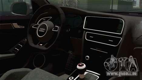 Audi S4 Avant 2013 pour GTA San Andreas vue arrière