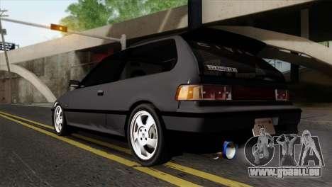 Honda Civic EF Hatchback pour GTA San Andreas laissé vue