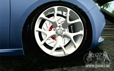 Vauxhall Astra VXR 2012 pour GTA San Andreas sur la vue arrière gauche