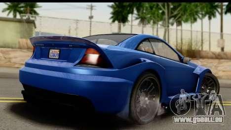 GTA 5 Benefactor Feltzer IVF für GTA San Andreas linke Ansicht