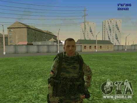 Un combattant de Sparte bataillon pour GTA San Andreas
