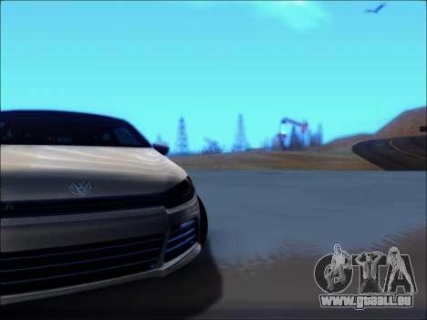 Volkswagen Scirocco Tunable pour GTA San Andreas vue intérieure