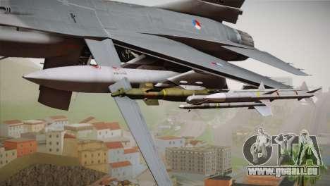 F-16 Fighting Falcon RNLAF Solo Display J-142 pour GTA San Andreas vue de droite
