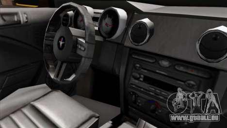 Ford Mustang GT Wheels 1 pour GTA San Andreas vue de droite