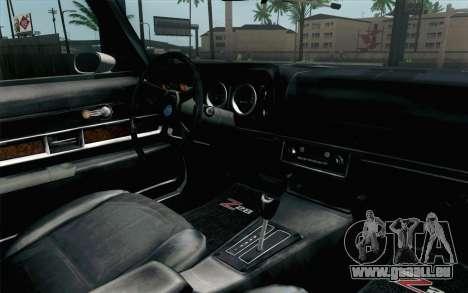 Chevrolet Camaro Z28 Monster Truck für GTA San Andreas rechten Ansicht