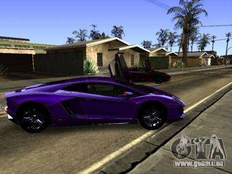 Lamborghini Aventador Tron pour GTA San Andreas vue de dessous