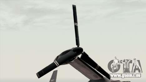 MV-22 Osprey USAF für GTA San Andreas Rückansicht