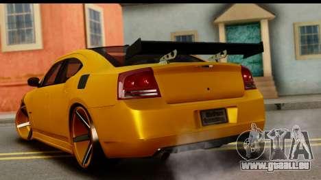 Dodge Charger SRT8 2006 Tuning pour GTA San Andreas laissé vue