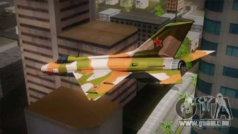 MIG 21 Russian Camo Force für GTA San Andreas linke Ansicht